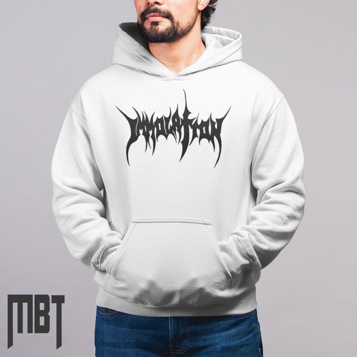 Immolation Band Hoodie, Immolation Logo Hooded Sweatshirt ...