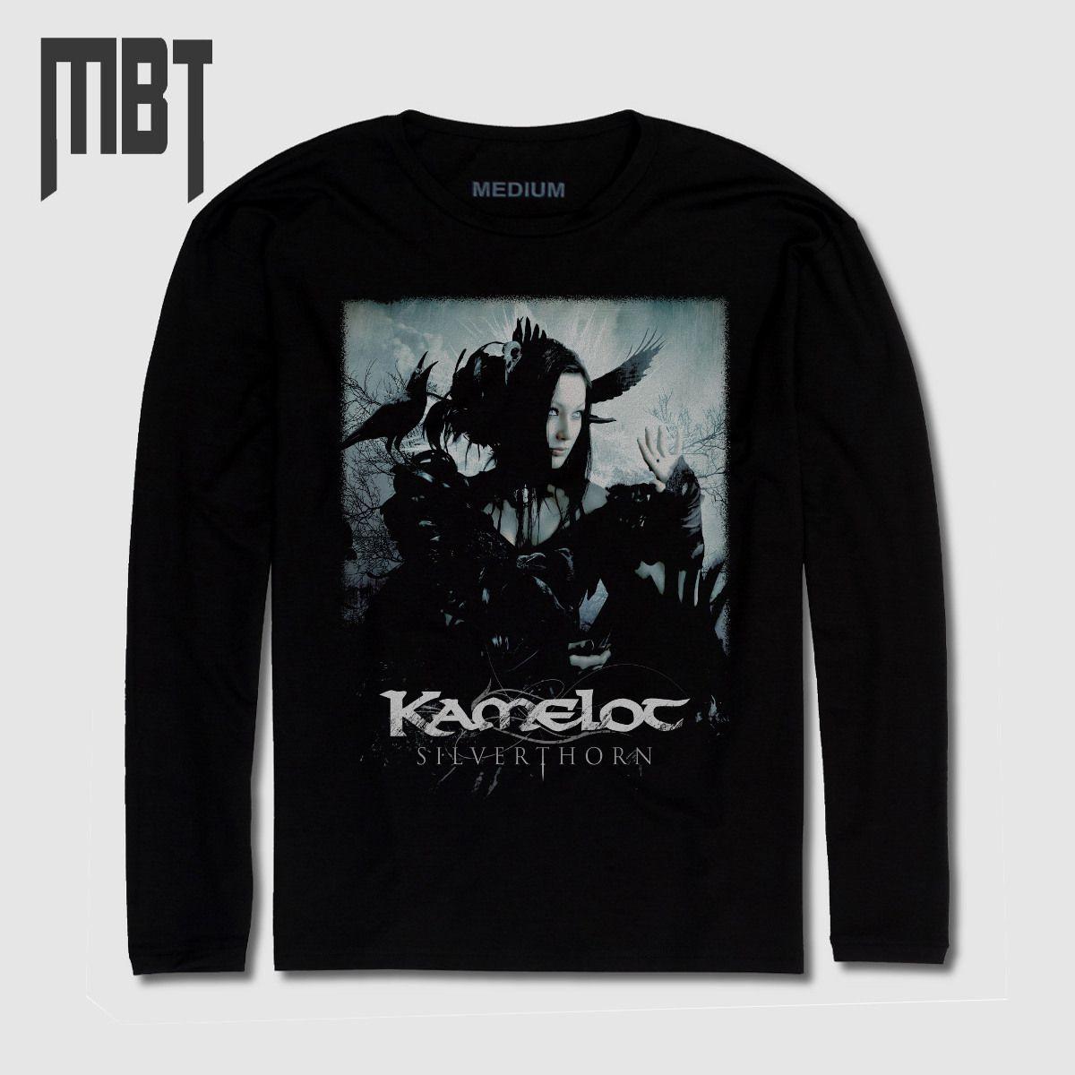 Kamelot Band Long Sleeve T Shirt Kamelot Silver Thorn Cover Long Sleeve Tee Shirt Power Metal Merch Metal Merch T Shirts Metal Merchandise T Shirts