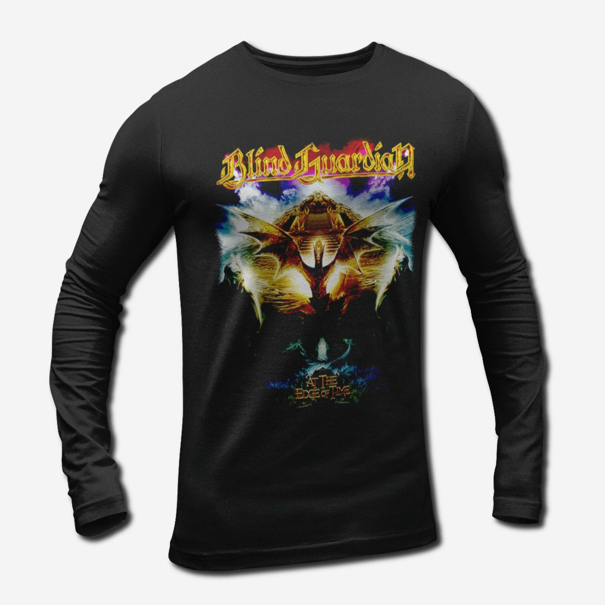 Blind Guardian At The Edge Of Time Long Sleeve T Shirt Power Metal Merch Metal Merch T Shirts Metal Merchandise T Shirts