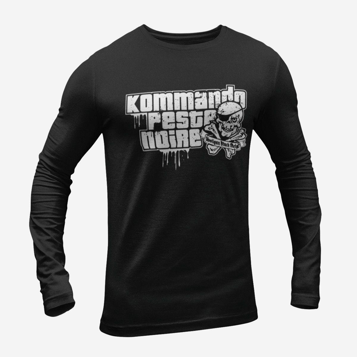 Peste Noire Kommando Long Sleeve T-Shirt, Black Metal
