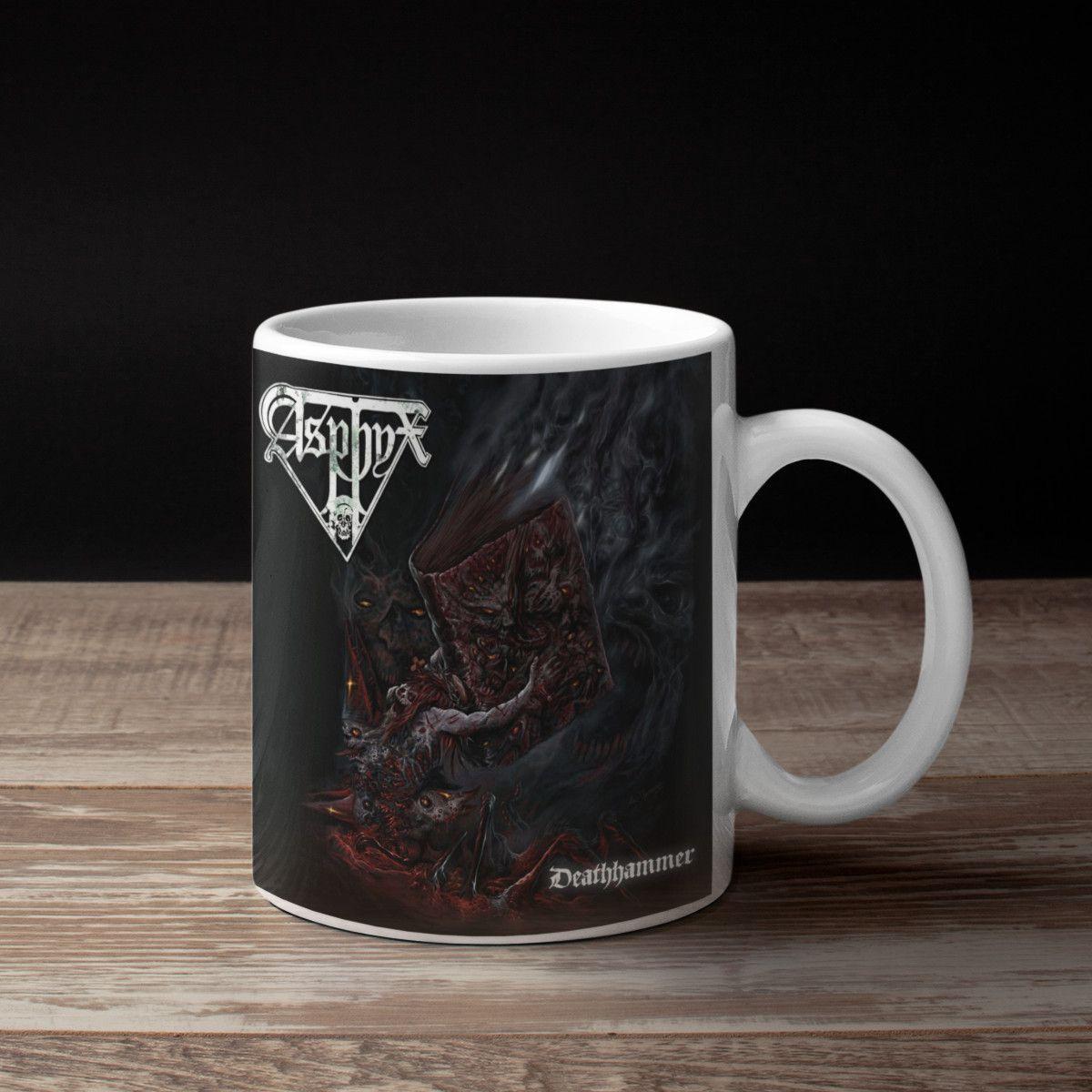 Asphyx Band Coffee Mug, Asphyx Deathhammer Cover Artwork ...